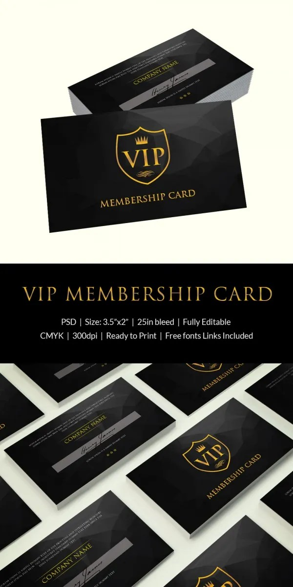 Membership Card Template - 31+ Free Printable Word, PDF, PSD, EPS