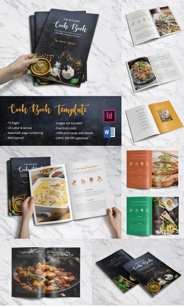 31+ Cookbook Templates - PSD, AI, Vector EPS Free  Premium Templates
