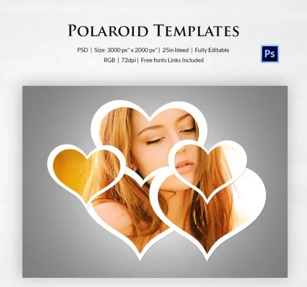 Polaroid Template - 31+ Free PSD Format Download Free  Premium - polaroid template