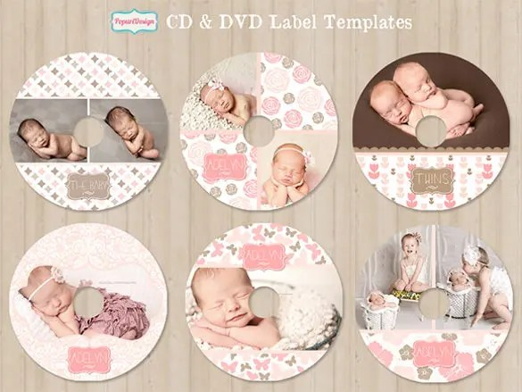 CD Label Template \u2013 22+ Free PSD, EPS, AI, Illustrator Format