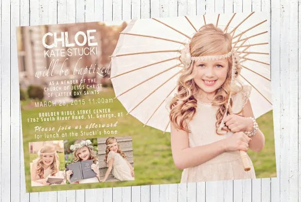 27 Baptism Invitation Templates Psd Word Publisher