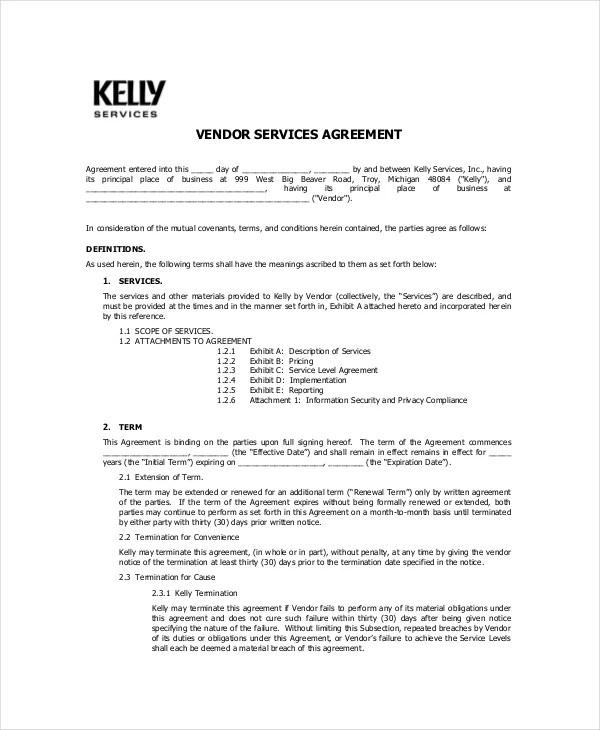 Vendor Confidentiality Agreement u2013 10+ Free Word, PDF Documents - vendor confidentiality agreement