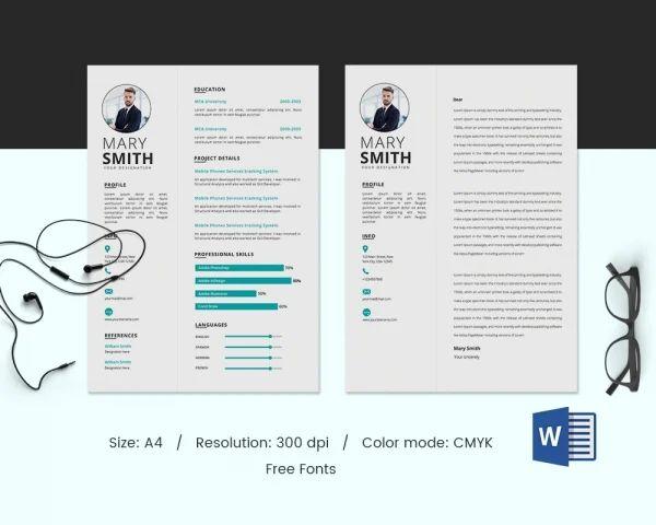 fresher resume sample in word format