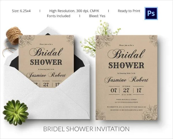 Bridal Shower Invitation Template \u2013 gangcraftnet - free bridal shower invitation templates