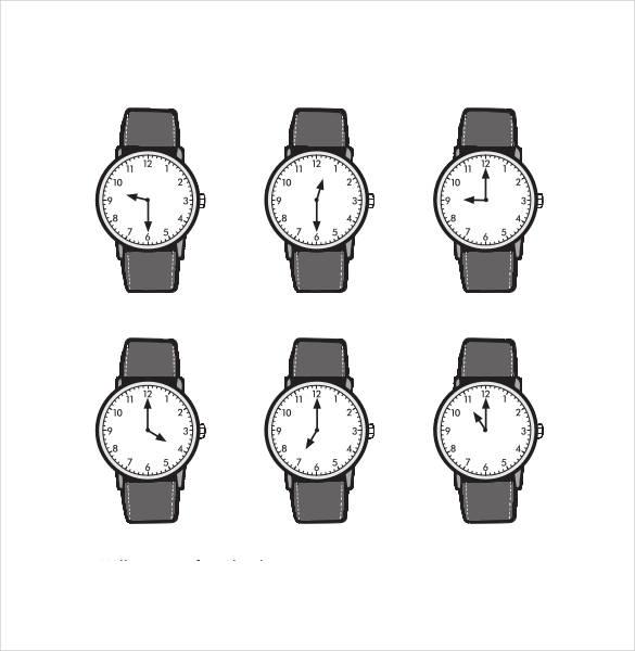 17+ Printable Clock Templates - PDF, DOC Free  Premium Templates
