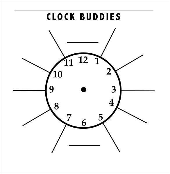 clock schedule template - Muckgreenidesign