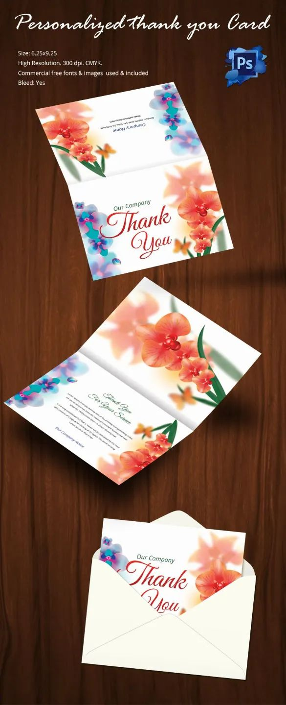 wedding thank you card templates free