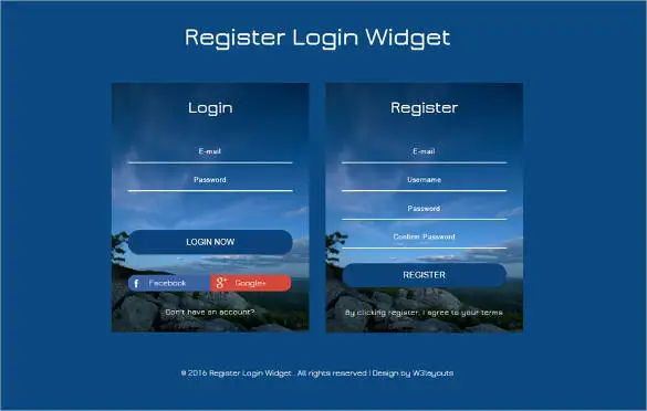 html template free download with css login page