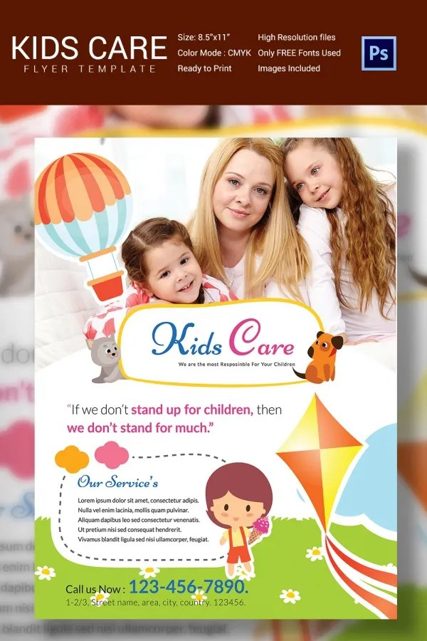 Daycare Ad Daycare Flyer Template Flyer Child Care Templates