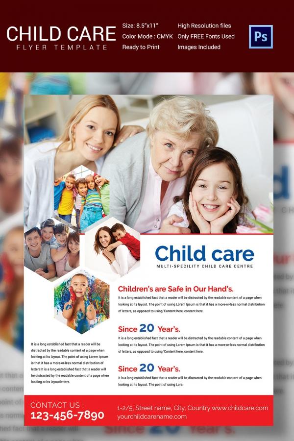 Daycare Flyer Template Child Care \ Preschool Brochure Template - advertising flyer template