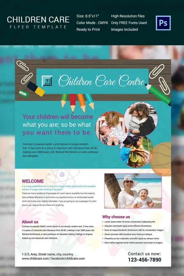 Babysitting Flyer Template Babysitting \ Daycare Flyer \ Ad - daycare flyer