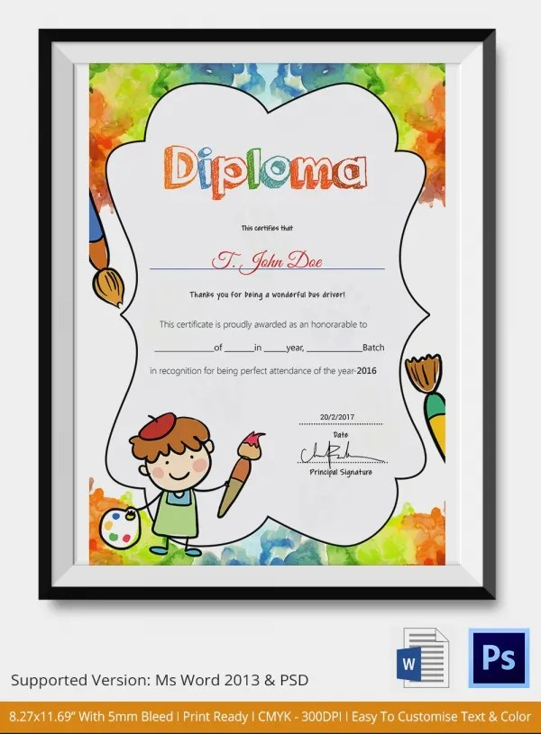 11 Graduation Certificate Templates Word Pdf Documents Printable - Printable Preschool Diplomas