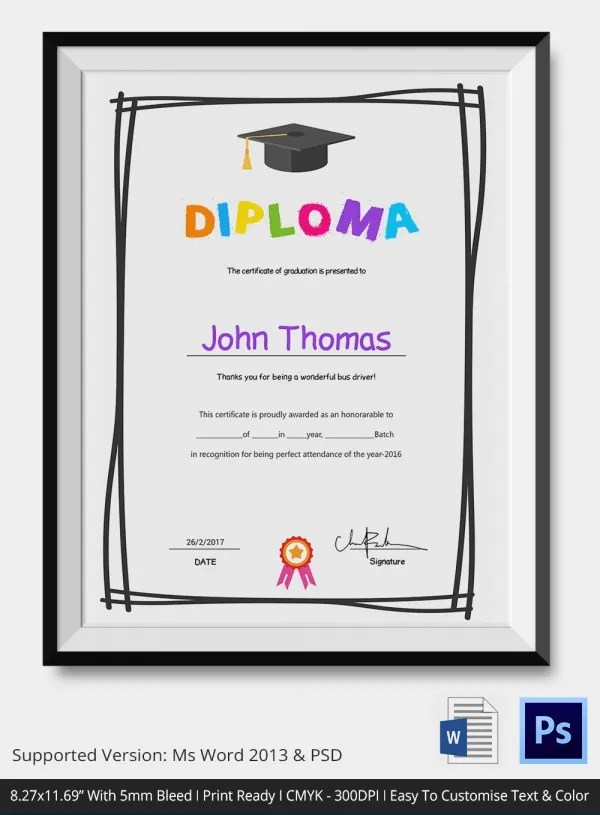 Pletion Award Certificate Template