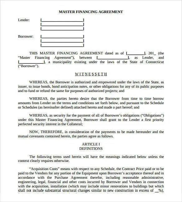 30+ Loan Contract Templates \u2013 Pages, Word, Docs Free  Premium