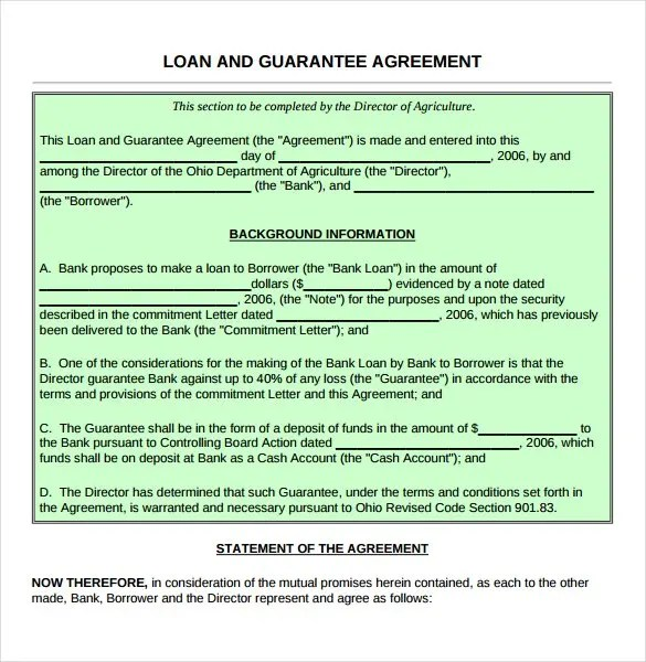 Loan Contract Template \u2013 27+ Examples in Word, PDF Free  Premium - loan letter agreement
