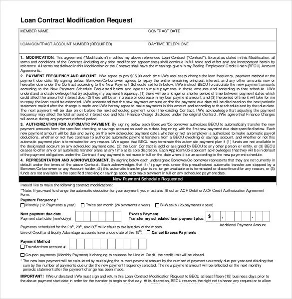 Loan Contract Template \u2013 27+ Examples in Word, PDF Free  Premium