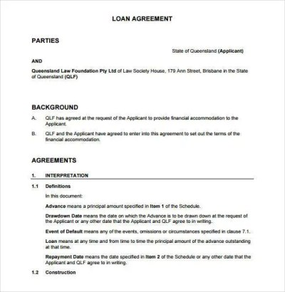 28+ Loan Contract Templates – Pages, Word, Docs | Free & Premium Templates