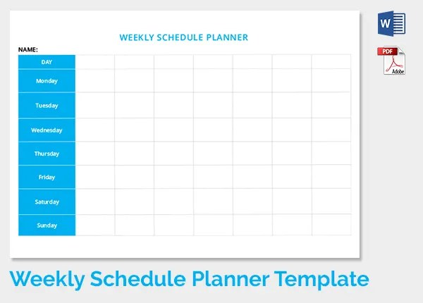 12+ Weekly Schedule Templates - DOC, PDF Free  Premium Templates