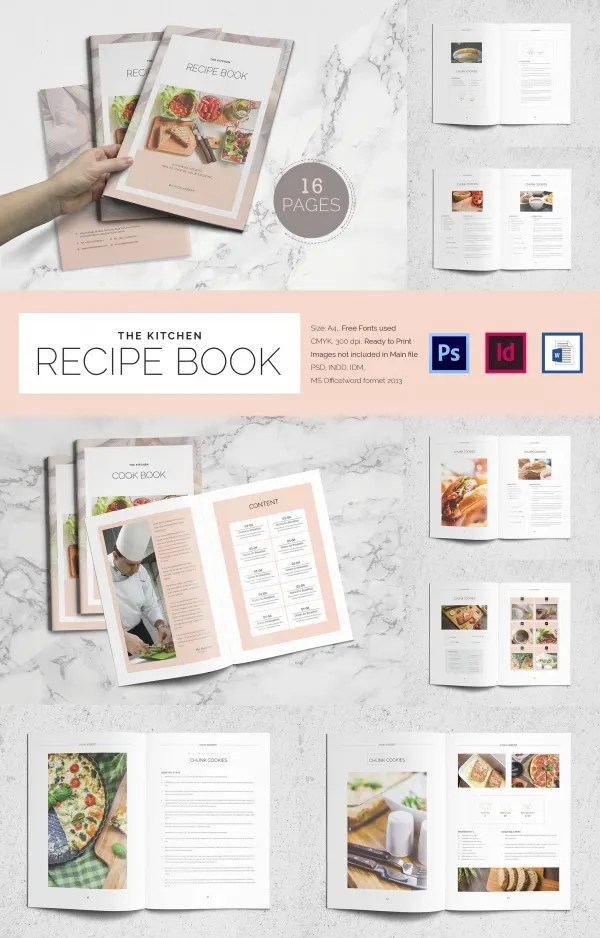 Cookbook Template - 31+ Free PSD, EPS, InDesign, Word, PDF Format - homemade cookbook template