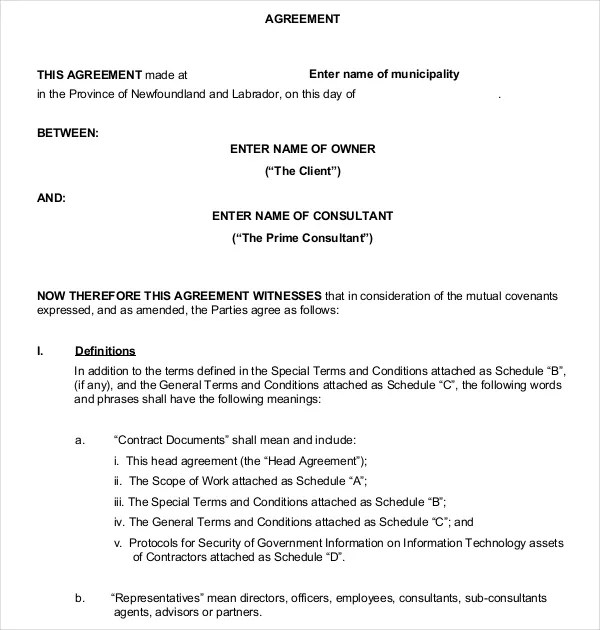 Business Contract Templates u2013 10+ Free Word, PDF Documents - sample business agreements