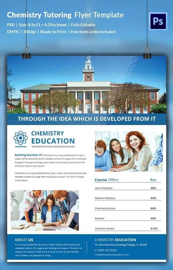 home tuition advertisement templates