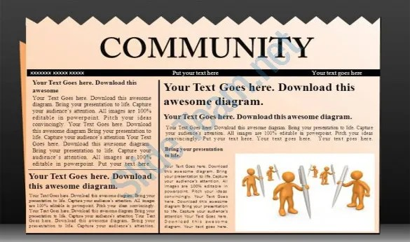 PowerPoint Newspaper Template \u2013 21+ Free PPT, PPTX, POTX Documents