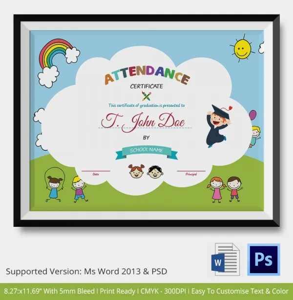 Student Certificate Template - Template Examples - attendance certificate template