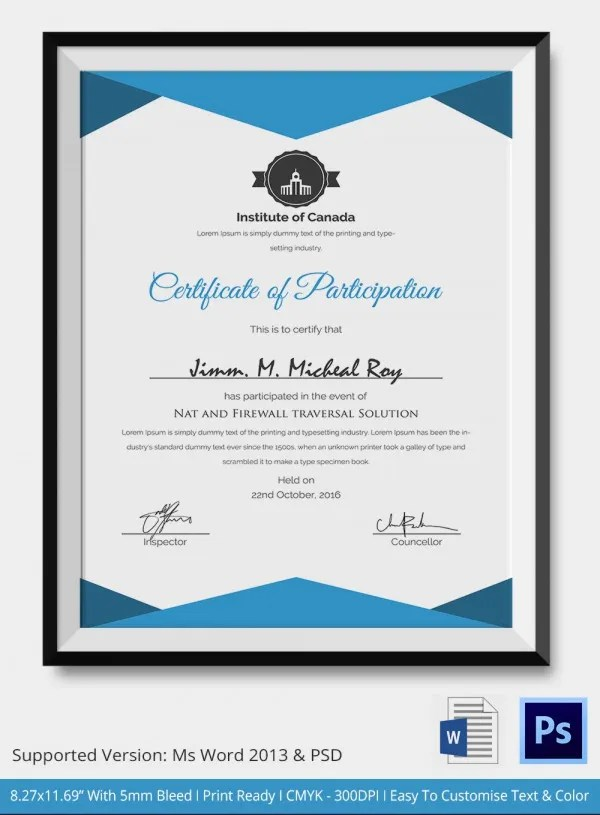 Sports Certificate In Pdf Excellence Award Certificate Award - awards template word