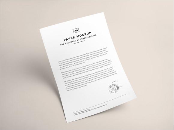 A4-Paper-PSD-MockUp-Free-Downloadjpg (580×433) work - brochure templates word free download