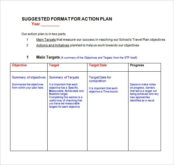 85+ Action Plan Templates - Word, Excel, PDF Free  Premium Templates