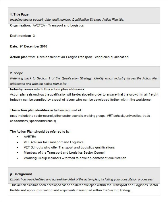 Action Plan Template - 110+ Free Word, Excel, PDF Documents Free - individual action plan template