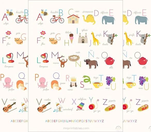 7+ Best Spanish Alphabet Letters  Designs Free  Premium Templates - alphabet in spanish