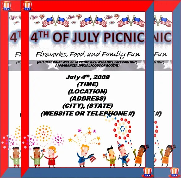 14 + Amazing Picnic Flyer Templates in Word, PSD, Publisher Free