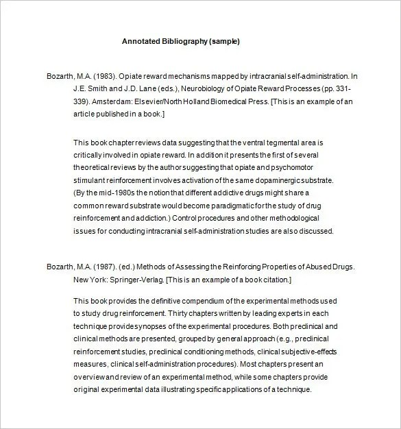 7+ Annotated Bibliography Templates \u2013 Free Word  PDF Format! Free - Annotated Bibliography Template Apa