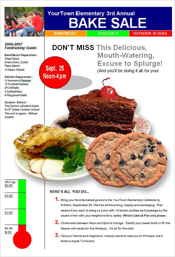 fundraising flyers templates - Josemulinohouse - bake sale flyer template microsoft