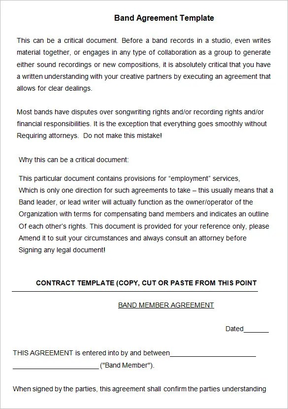 Music Contract Template Enchanting Music Contract Templates Crest - music agreement contract
