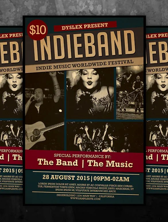 Band Flyer Templates Free | Sample Customer Service Resume