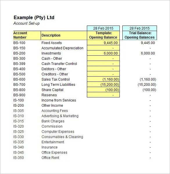 5+ Accounting Worksheet Templates \u2013 Free Excel Documents Download