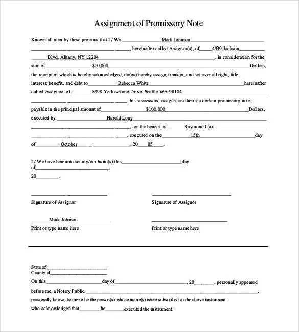 Promissory Note Template - 34+ Free Word, PDF Format Free - basic promissory note