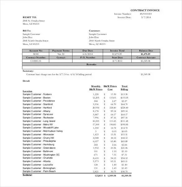 Microsoft Invoice Template - 54+ Free Word, Excel, PDF Free - ms custom invoice template