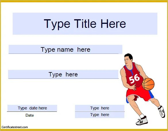 Basketball Certificate Template - 14+ Free Word, PDF, PSD Format