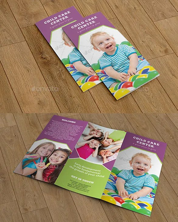 15+ Beautiful Child Care Brochure Templates - Docs, Ai, Pages, PSD