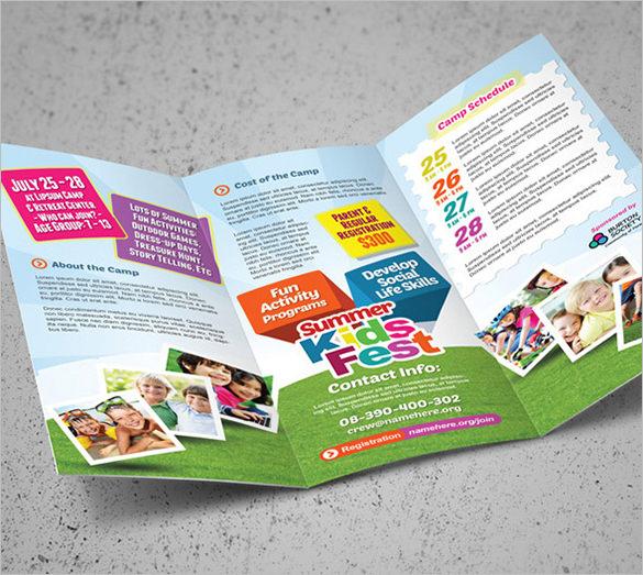 10+ Amazing Camp Brochure Templates Free \ Premium Templates - camp flyer template