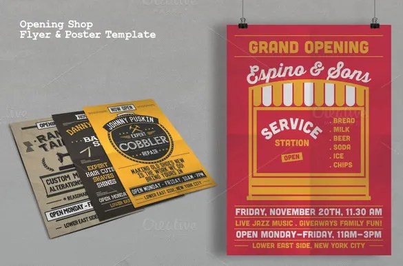 Grand Opening Flyer Template - 43+ Free PSD, AI, Vector EPS Format - contemporary flyer