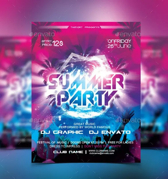15+ Modern PSD Party Flyer Templates - PSD, AI Free  Premium