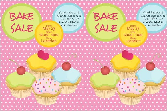 Bake Sale Flyer Template - 31+ Free PSD, Indesign, AI Format