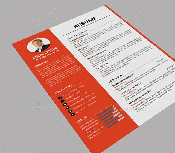 41+ One Page Resume Templates - Free Samples, Examples,  Formats