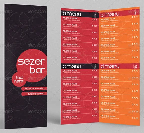 Drink Menu Templates \u2013 30+ Free PSD, EPS Documents Download! Free - drinks menu template