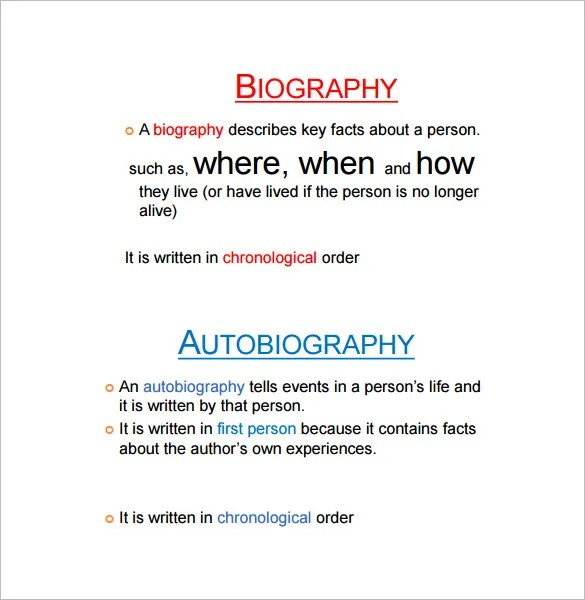 Autobiography Outline Template u2013 17+ Free Word, PDF Documents - microsoft word biography template