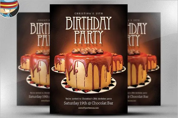 22 + Amazing Birthday Party PSD Flyer Templates - Word, EPS Vector